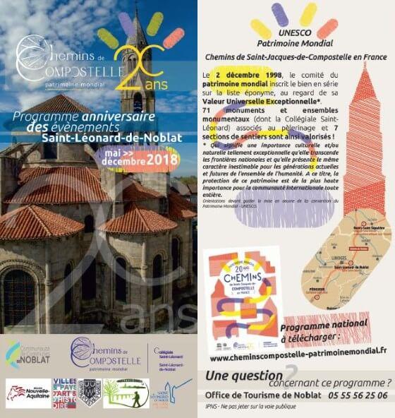 20ème anniversaire des chemins de Saint Jacques à l'UNESCO